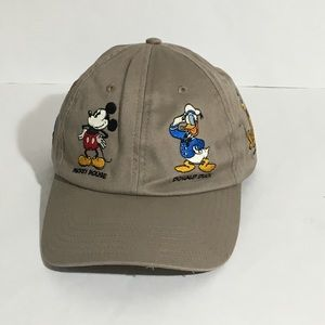 Disney Parks Mickey & Friends Tan Strap Back Hat